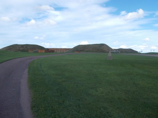 The star shaped earthen ramparts of what was once Fort Beausejour/Fort Cumberland