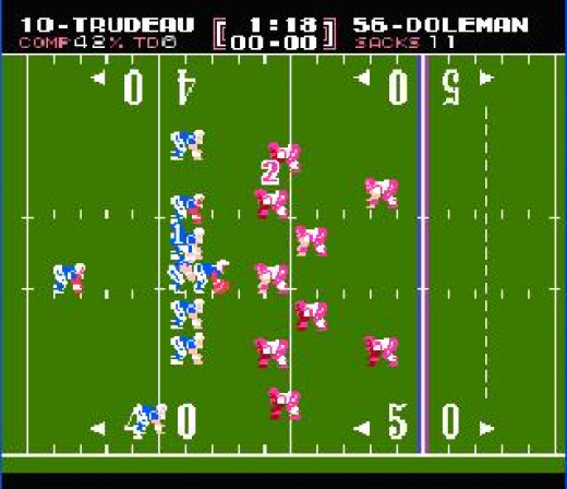 While the game might look fairly primitive by today's standards, this was mind blowing in the 1980s. For the first time you were playing the game while you watched it on television. So, so cool.