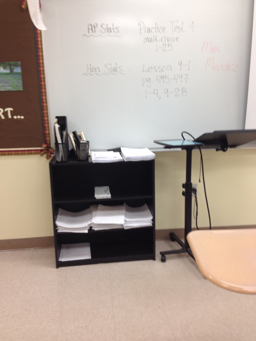 A central location for holding papers, forms, and homework will help students become accountable and independent.