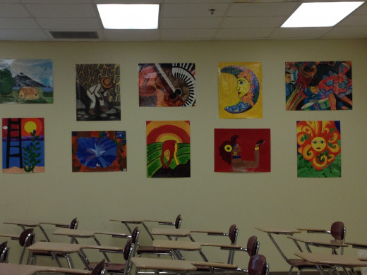 Have students create a mural or gallery of expressive art to highlight their individuality while promoting community.
