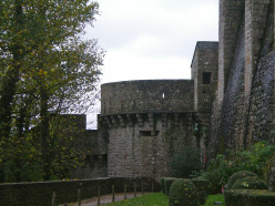 The monastery walls form part of the battlements (c) A. Harrison