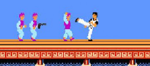 Let's see you get past that gun Mr. Kung Fu master. Hah. All that kicking and punching ain't gonna do crap now, man. Bet you wish you hadn't killed all his friends!