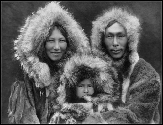 An Inupiat family from Noatak, Alaska (1929)