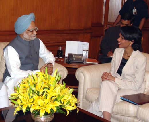 U.S. Secretary of State Condoleezza Rice met with Prime Minister Manmohan Singh of India. New Delhi, India March 16, 2005 During her trip to Asia,