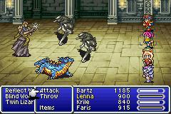 Combat in Final Fantasy V (GBA version)