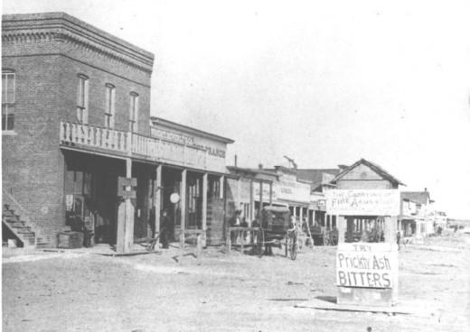 Dodge City. Front Street 1878.