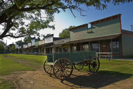 19th Century Wagon, Dodge City, Front Street Reconstruction. Boot Hill exhibit.