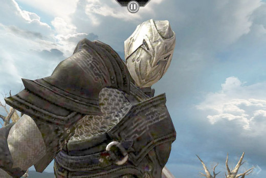 Infinity Blade 3 is a paid game app for the smartphone that allows gamers to pay real cash for game money and gems to buy game items.