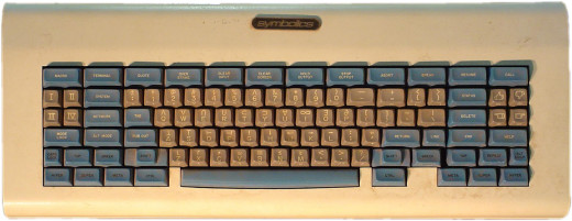 LM-2 Lisp machine space-cadet keyboard