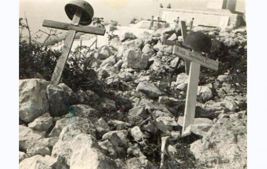 Memorial crosses to the Polish war dead at Monte Cassino - it was the Poles who wrested it from the German paratroopers
