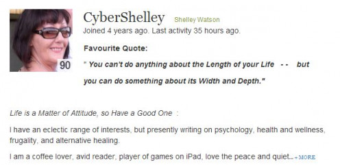 Live Life, Laugh With Cybershelly http://cybershelley.hubpages.com/