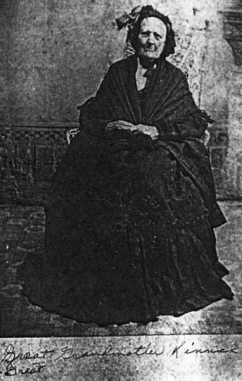 Photo image from about 1840, the earliest photo known to exist in the family
