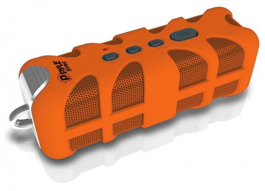 Pyle PWPBT60 Marine Grade, Rugged, Portable, Splash-Proof, Waterproof wireless bluetooth shower speaker (Orange)