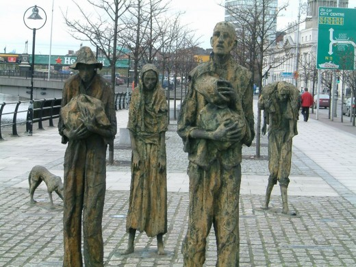 Potato Famine Memorial In Dublin Ireland