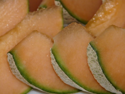 http://pixabay.com/en/cantaloupe-melon-yellow-canary-11542/