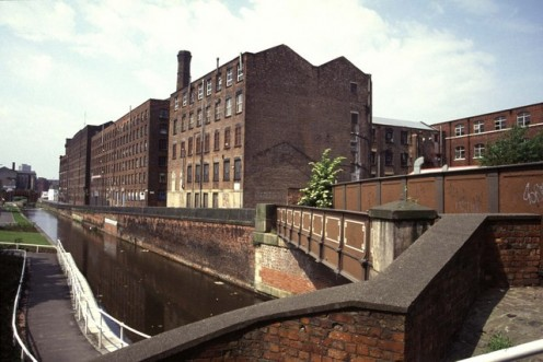 Ancoats Cotton Mills, Manchester, England, UK, parts of which date back to 1798.