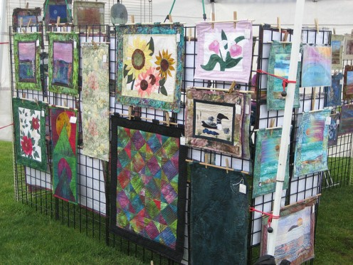An Eden Prairie open air art show.