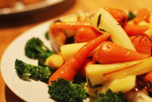 Sunday dinner vegetables