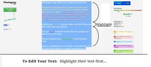 Highlight their text on the home page/landing page.