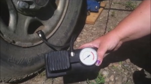 Having your own air tire pump is very handy.