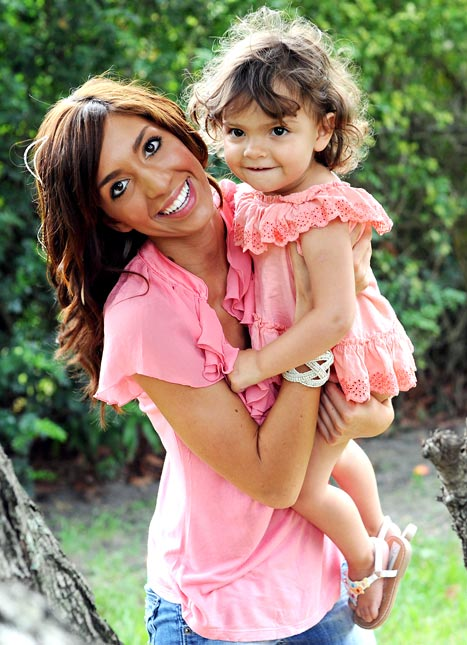 Farrah and daughter, Sophia