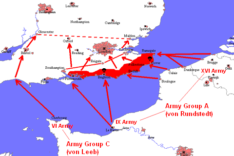 Invasion plan for Operation Sealion