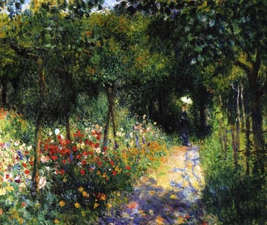Woman at the Garden  Renoir