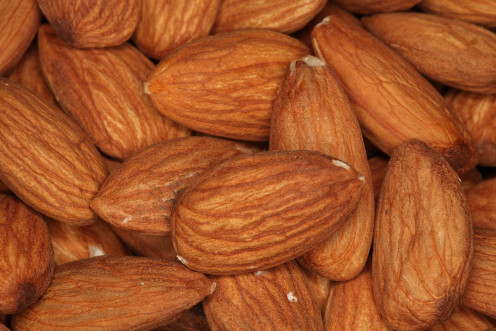 Raw almonds make a convenient snack with healthy fats and protein.