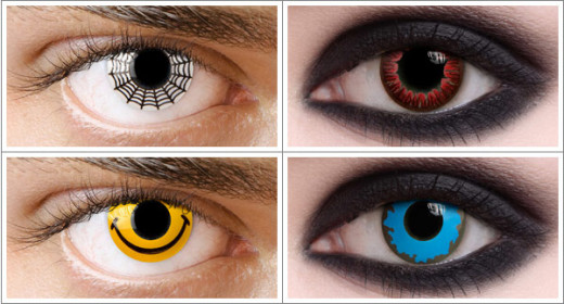 Contact lenses can add an extra effect to your costume