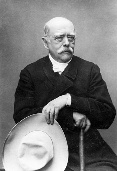 Otto von Bismarck, who became Germany's first Chancellor in 1871, after unification.