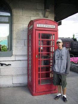 An English Phone Booth in Canada