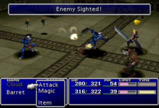 Combat in Final Fantasy VII