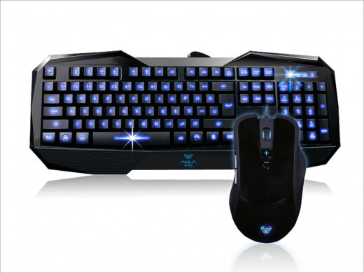AULA backlit gaming keyboard and mouse