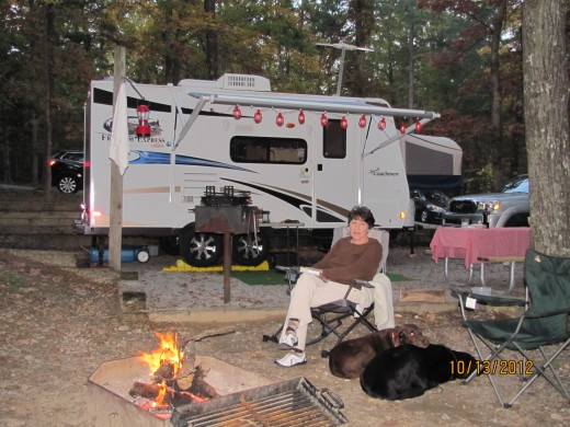 Our Camper at Cloudland Canyon State Park -Georgia - Nice Campsites!