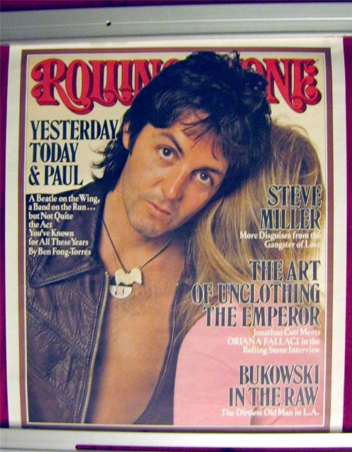 "Paul McCartney Rolling Stone promotional poster 1976 Capitol Records 18.75"" x 22.75"""