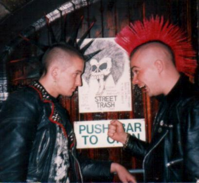 English punk with spike Mohawk