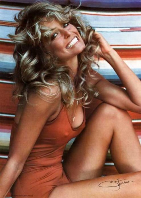 Farrah Fawcett - Red Swimsuit Poster - 1976 - 20 x 28