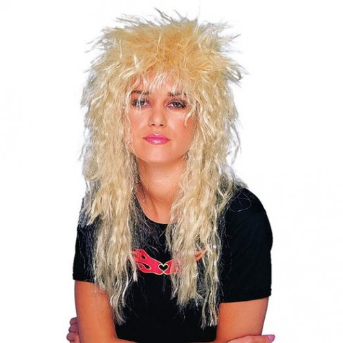 Blond Heavy Metal Rocker Wig