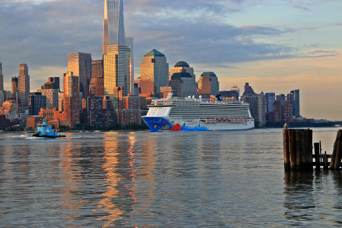 Norwegian Cruise Lines has shown little compassion for a New York family in need. Shown here, the Norwegian Breakaway on the Hudson River.