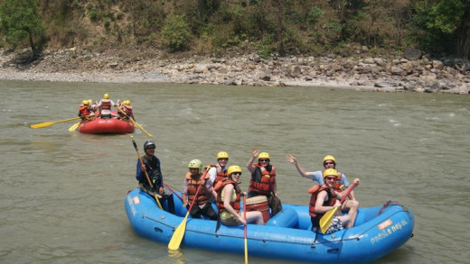 Family white water rafting is great fun.
