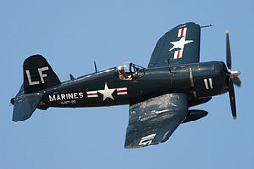 """The Great Santini"" would have flown a Corsair F4 such as this during his tours of duty in World War II and the Korean conflict."