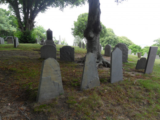 Some of the Gravestone Markers in Burial Hill