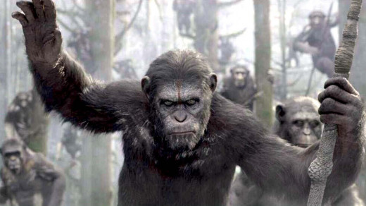 Caesar (Andy Serkis) leads the apes in Dawn of the Planet of the Apes, the prequel to the original movie from the 1960's