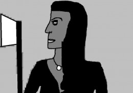 Morticia was a favorite character of Charles Addams both in The New Yorker and on the small screen.