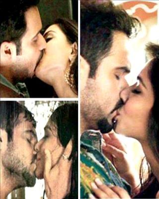 Emraan Hashmi sticks to serial kisser tag, in Raja Natwarlal, smooches co-star pakistani actress Humaima Malick.Visti Biscoot Showtym for more.