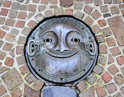 Manholes can smile!