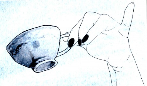 Miss Grammers does not favor extending one's pinky finger when sipping tea.