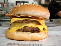 Americans love cheeseburgers.