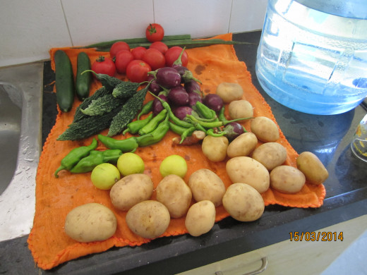 Fresh vagies for good health