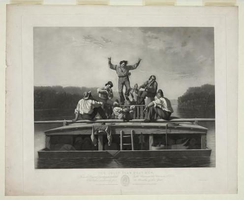 Men on a Flatboat